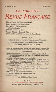La Nouvelle Revue Française N' 164 (Mai 1927)