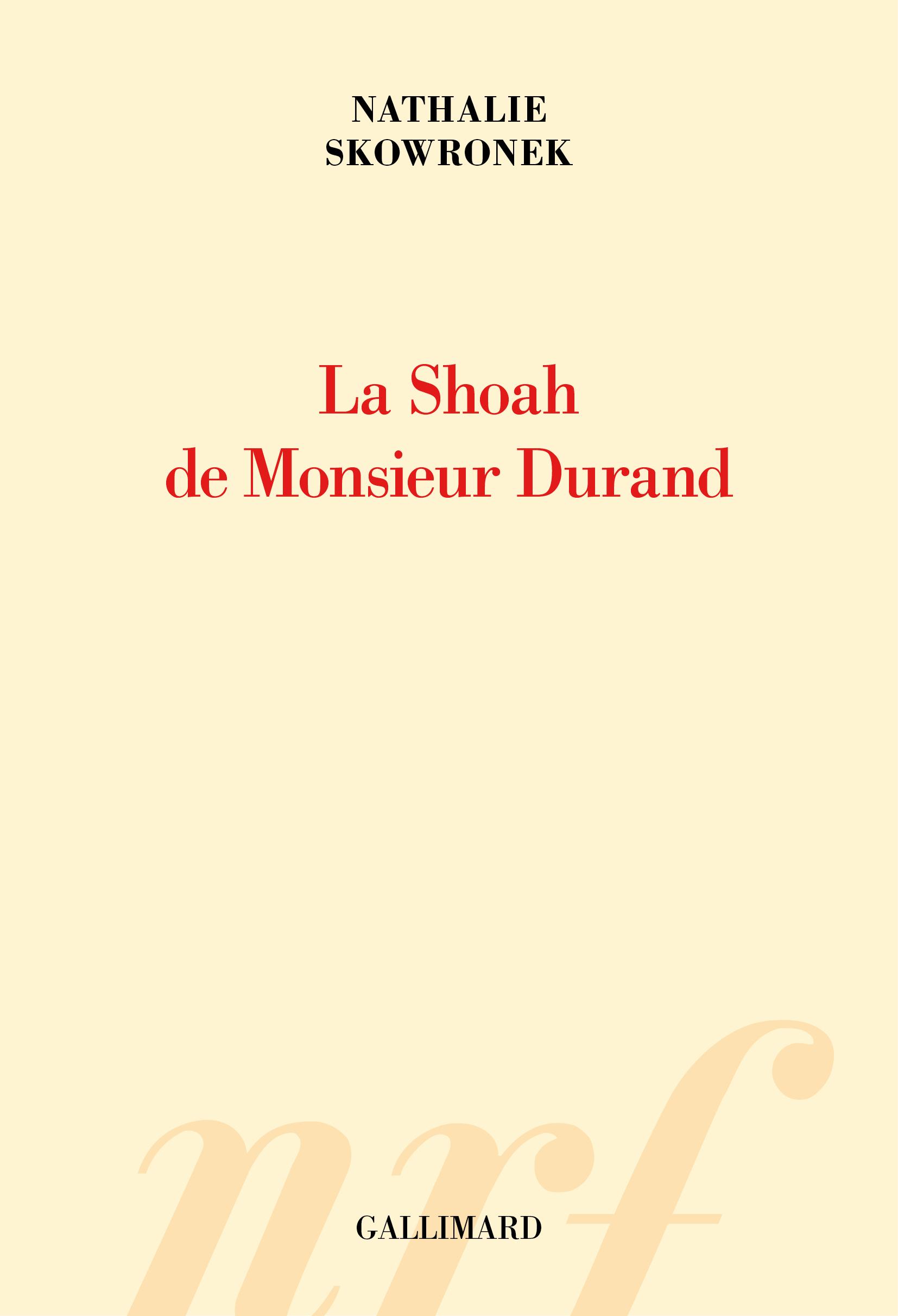 La Shoah de Monsieur Durand