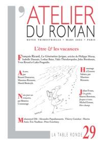 L'ATELIER DU ROMAN N 29 (REVUE)
