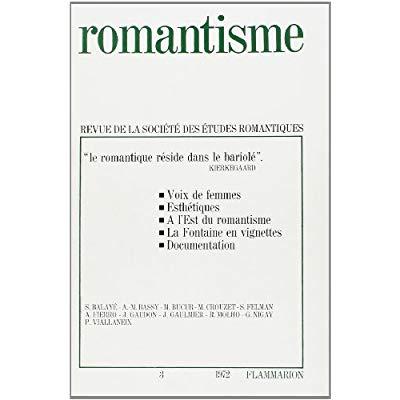 ROMANTISME - LITTERATURE FRANCAISE - T3 -  LE ROMANTISME RESIDE DANS LE BARIOLE  KIERKEGAARD