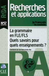 LA GRAMMAIRE EN FLE/FLS