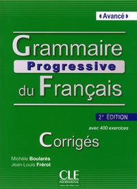 GRAMMAIRE PROGRESSIVE DU FRANCAIS NIVEAU AVANCE 2ED CORRIGES + CD