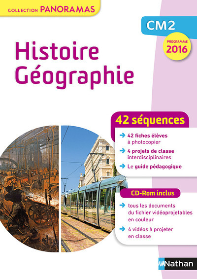 HISTOIRE GEOGRAPHIE CM2 FICHIER + CD - COLLECTION PANORAMAS 2017 - PROGRAMME 2016