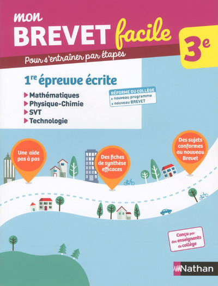 MON BREVET FACILE - EPREUVE DE MATS - PHYSIQUE CHIMIE - SVT TECHNOLOGIE 3E