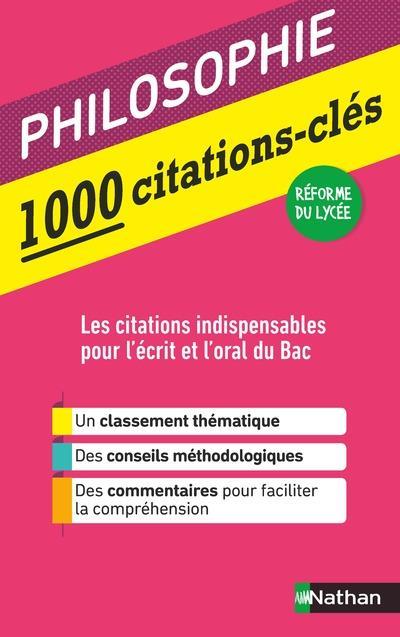 1000 CITATIONS-CLES - PHILOSOPHIE