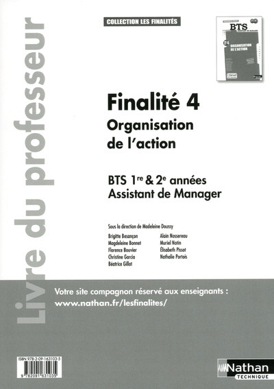 FINALITE 4 BTS 1RE ET 2E ASSIS