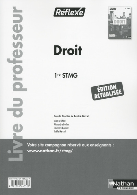 DROIT 1RE STMG (REFLEXE) LIVRE DU PROFESSEUR 2016