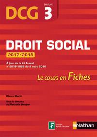 FICHES DROIT SOCIAL EPREUVE 3 DCG 2017 / 2018