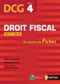 DROIT FISCAL EPREUVE 4 DCG - LE COURS EN FICHES 2017/2018