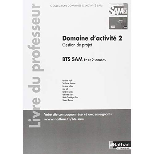 GESTION DE PROJET - BTS SAM 1ERE ET 2EME ANNEES (DOM ACT SAM) PROFESSEUR - 2018