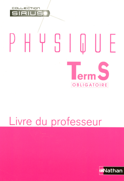 PHYSIQUE TERM S PROF 2006