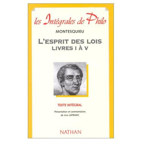 INT PHIL 31 ESPRIT LOIS LIV I