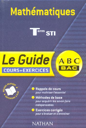 MATHS ABC TERM STI COURS EX