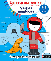 VERBES MAGIQUES CE1 7-8 ANS - COLORIAGES MALINS
