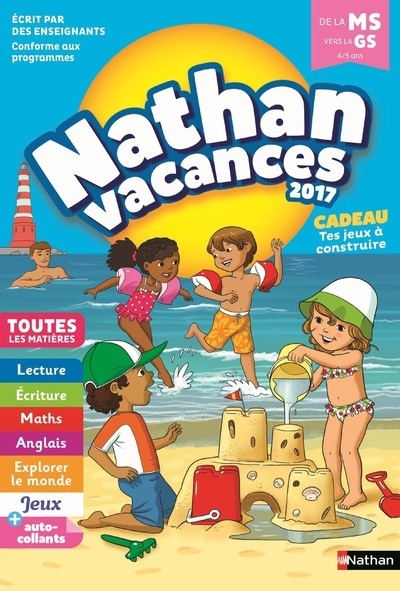 NATHAN VACANCES 2017 MATERNELLE MS VERS GS 4/5 ANS