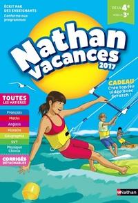 NATHAN VACANCES 2017 COLLEGE DE LA 4EME VERS LA 3EME - TOUTES LES MATIERES