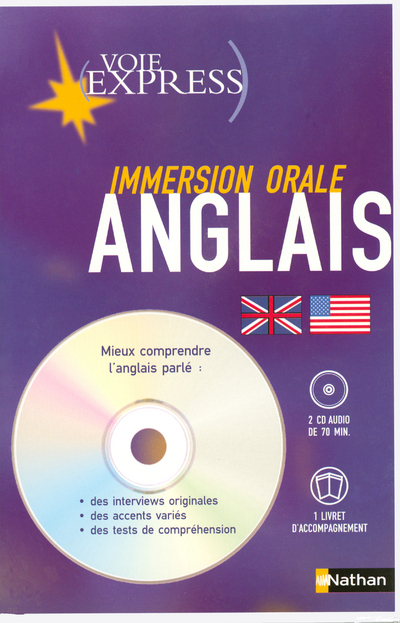 VE CD IMMERSION ORALE ANGLAIS