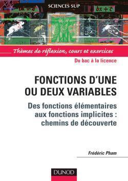 FONCTIONS D'UNE OU DEUX VARIABLES