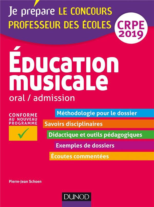 EDUCATION MUSICALE - ORAL / ADMISSION - CRPE 2019