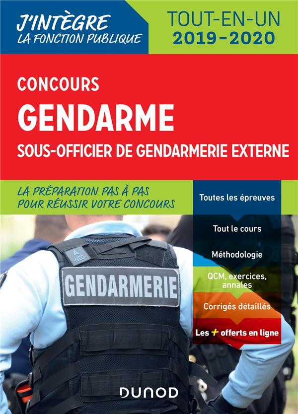 FONCTION PUBLIQUE D'ETAT - T01 - CONCOURS GENDARME SOUS-OFFICIER DE GENDARMERIE EXTERNE - TOUT-EN-UN