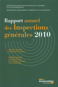 RAPPORT ANNUEL DES INSPECTIONS GENERALES 2010
