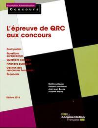 L EPREUVE DE QRC AUX CONCOURS-DROIT PUBLIC-QUESTIONS EUROPEENNES