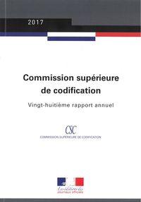 RAPPORT ANNUEL 2017 DE LA COMMISSION SUPERIEURE DE CODIFICATION