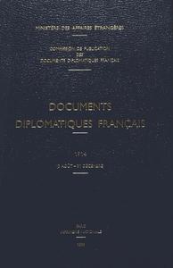 DOCUMENTS DIPLOMATIQUES FRANCAIS - 1914 (3 AOUT - 31 DECEMBRE)