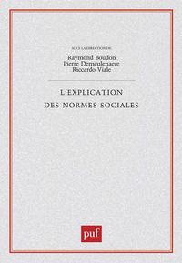 IAD - L'EXPLICATION DES NORMES SOCIALES