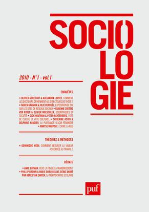 IAD - SOCIOLOGIE 2010 - N  1 VOL 1