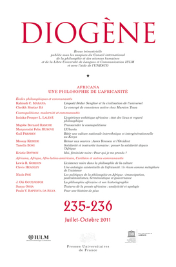 IAD - DIOGENE N 235-236 JUILLET-OCTOBRE 2011