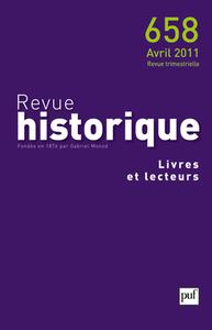 REVUE HISTORIQUE 2011 N 658 LIVRES ET LECTEURS