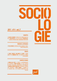 SOCIOLOGIE 2011 N 4.