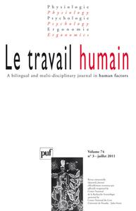 TRAVAIL HUMAIN 2011 VOL 74 N 3