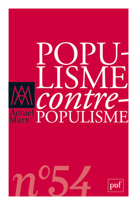 ACTUEL MARX 2013 N 54 - POPULISME / CONTRE-POPULISME