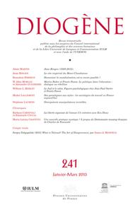 DIOGENE 2013 N 241