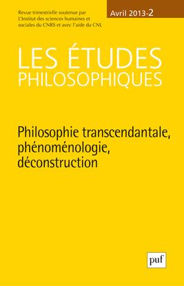 IAD - ETUDES PHILOSOPHIQUES 2013 N 2