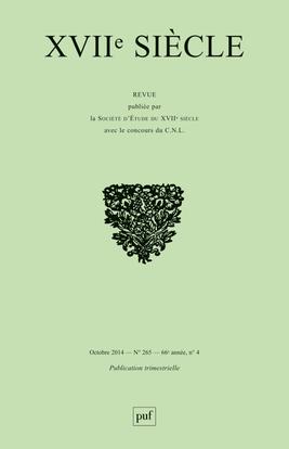 XVIIE SIECLE 2014 N 265 VARIA