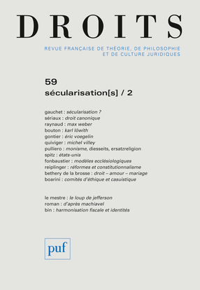 DROITS 2014 N 59 SECULARISATION[S] / 2