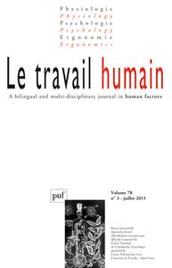 LE TRAVAIL HUMAIN 2015 VOL 78 N 3
