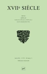 XVIIE SIECLE 2016 N 270