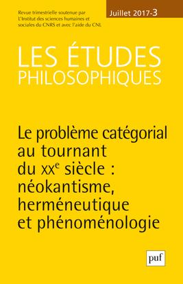 LES ETUDES PHILOSOPHIQUES 2017, N  3