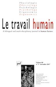 IAD - LE TRAVAIL HUMAIN 2017 - VOL. 80 - N  3