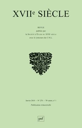 XVIIE SIECLE 2018, N  278