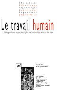IAD - TRAVAIL HUMAIN 2018, VOL. 81 (1)