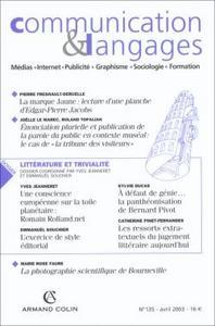 COMMUNICATION &  LANGAGES1/2003