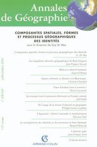 ANNALES DE GEOGRAPHIE N  638-639 (4-5/2004)