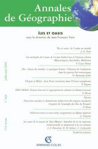 ANNALES DE GEOGRAPHIE - N  644 (4/2005)