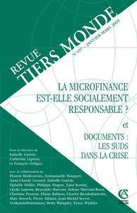 REVUE TIERS MONDE N  197 (1/2009) LA MICROFINANCE EST-ELLE SOCIALEMENT RESPONSABLE ?