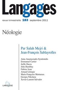 LANGAGES N  183 (3/2011) NEOLOGIE